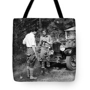 Man And Woman In Fishing Gear Tote Bag
