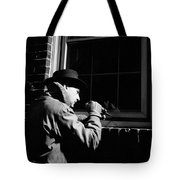 Man Breaking Into Building, C.1950s Tote Bag
