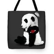 Man Bun Panda Tote Bag
