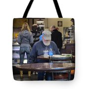Man Does Not Notice Woman Behind Him Tote Bag