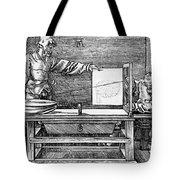 Man Drawing A Lute 1523 Tote Bag