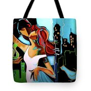 Man Giving His Snail, For Unknown Reasons, Making Bird Cry Tote Bag