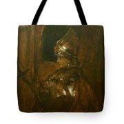 Man In Armor Tote Bag