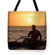 Man In Canoe Tote Bag