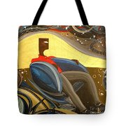 Man In Chair 2 Tote Bag