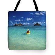Man In Kayak Tote Bag