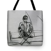 Man In The Fishing Game Tote Bag
