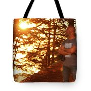 Man In The Forest Tote Bag