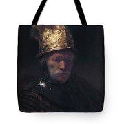 Man In The Golden Helmet Tote Bag