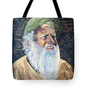 Man In The Green Turban Tote Bag