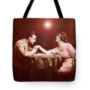 Man Kissing Womans Hand Romantic Couple Tote Bag