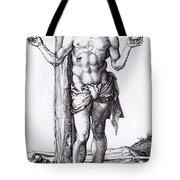 Man Of Sorrows With Hands Raised 1500 Tote Bag