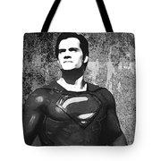Man Of Steel Monochrome Tote Bag