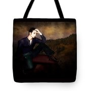 Man On A Bench Tote Bag