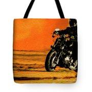 Man On Bike Tote Bag