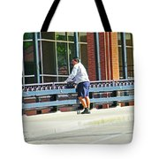 Man On The Bridge Tote Bag