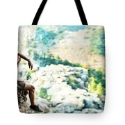 Man On Top Of The World Tote Bag
