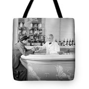 Man Ordering Another Drink, C. 1940s Tote Bag
