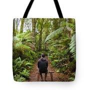 Man Relaxing In Strahan Rainforest Retreat Tote Bag