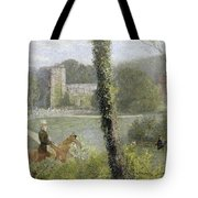 Man Riding To His Lady Tote Bag