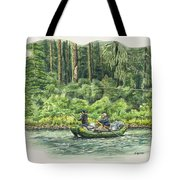 Man Rows Woman Tote Bag