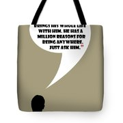 Man Walks Into A Room - Mad Men Poster Don Draper Quote Tote Bag