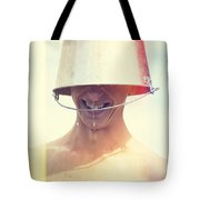 Man Wearing Water Bucket On Head In Summer Heat Tote Bag by Jorgo Photography - Wall Art Gallery
