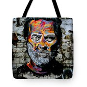 Man With Colourful Face Tote Bag