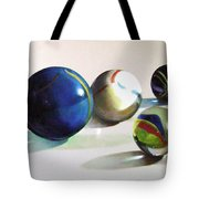 Man With Glass Balls  Tote Bag