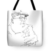 Man With Hat Tote Bag