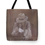 Man With Heat Tote Bag