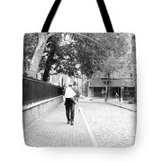 Man With Lamp Tote Bag