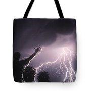 Man With Lightning, Arizona Tote Bag