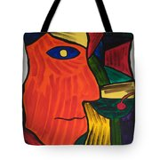 Man With Martini Glass Tote Bag