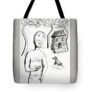 Man With Puppy  Tote Bag