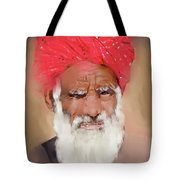Man With Red Headwrap Tote Bag