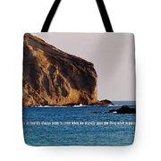 Manana Rabbit Island Quote Tote Bag