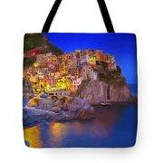 Manarola By Moonlight Tote Bag