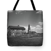 Manassas Battlefield Farmhouse 2 Bw Tote Bag