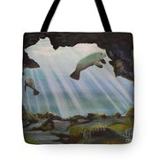 Manatee Cave Tote Bag