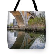 Manayunk Canal Bridge Reflection Tote Bag
