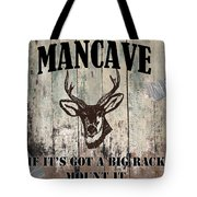 Mancave Deer Rack Tote Bag