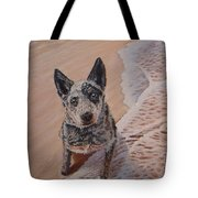 Mancha At The Beach Tote Bag