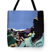 Manchuria And The Great Wall Vintage Poster Restored Tote Bag