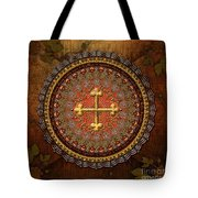 Mandala Armenian Cross Tote Bag by Bedros Awak