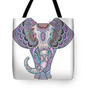 Mandala Elephant Indigo Tote Bag