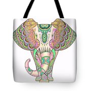 Mandala Elephant Psicodelic Tote Bag
