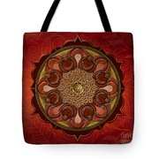 Mandala Flames Sp Tote Bag by Bedros Awak