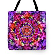 Mandala Floral Red Purple Tote Bag