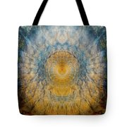 Mandala From The Garden 2 - Flower Feather Shield Tote Bag